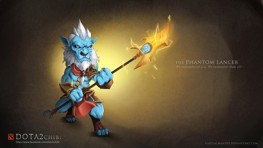 DOTA 2 Fan Art: Phantom Lancer Chibi