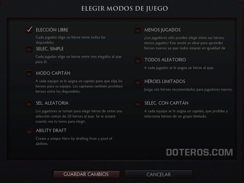 ability draft elegir modos