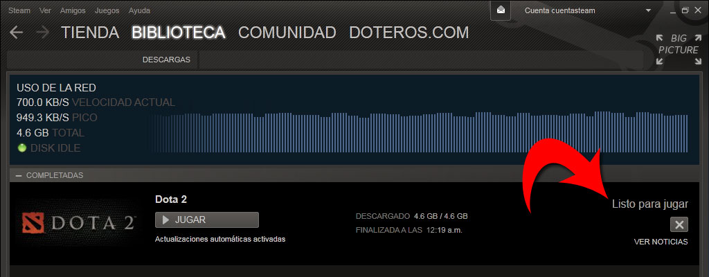 dota 2 descarga listo