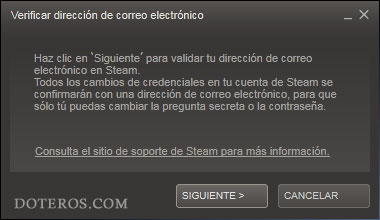 steam verificar email