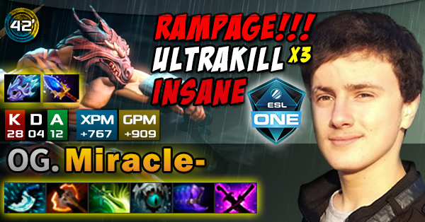 DOTA 2 Gameplay  (ESL One Frankfurt 2016): OG.Miracle- (Juggernaut) Vs. compLexity