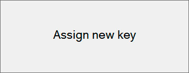 Assign a new key