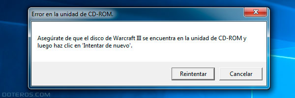warcraft 3 Reign of chaos Error en la unidad de CD-ROM
